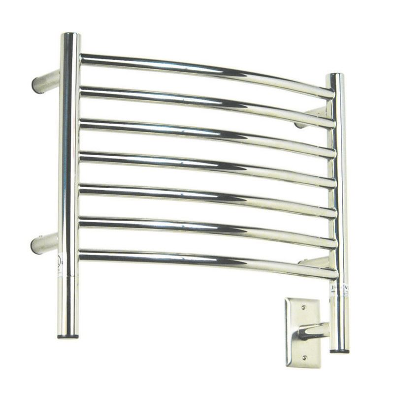 Amba H Curved 7 Bar Towel Warmer, Polished