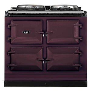 AGA Total Control Cast Iron 3-Oven Electric Range AUBERGINE