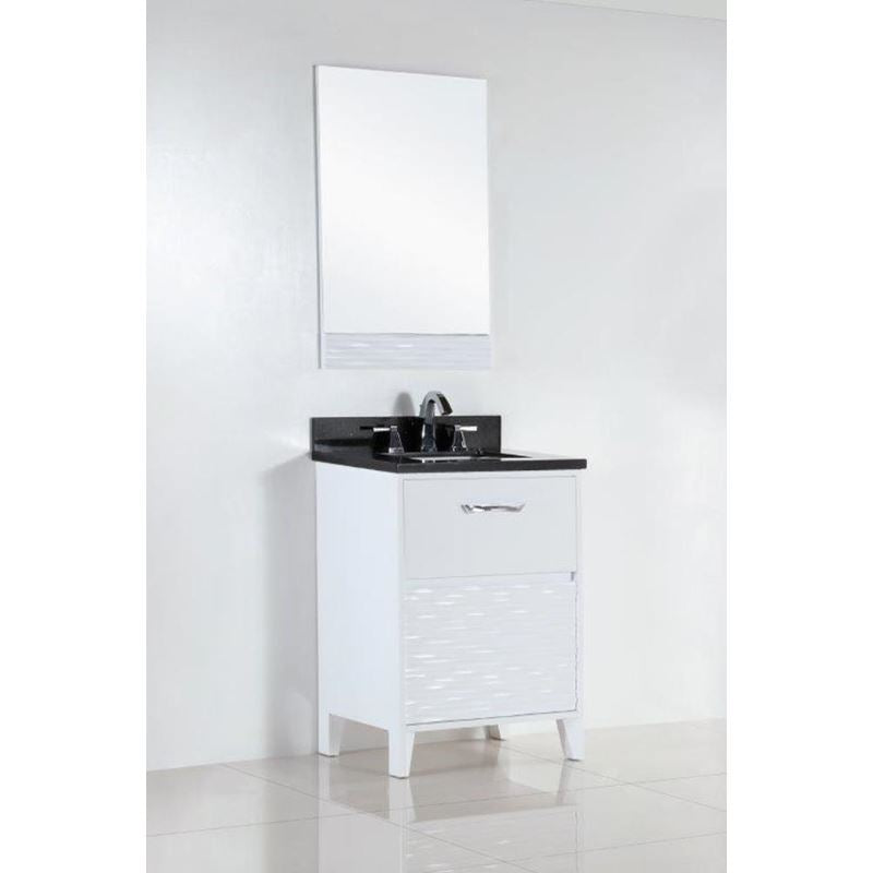 Bellaterra 24 In. Single Sink Vanity With Black Galaxy Top 500709-24-BG