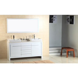 Adornus Alexa Double Vanity, High Gloss White