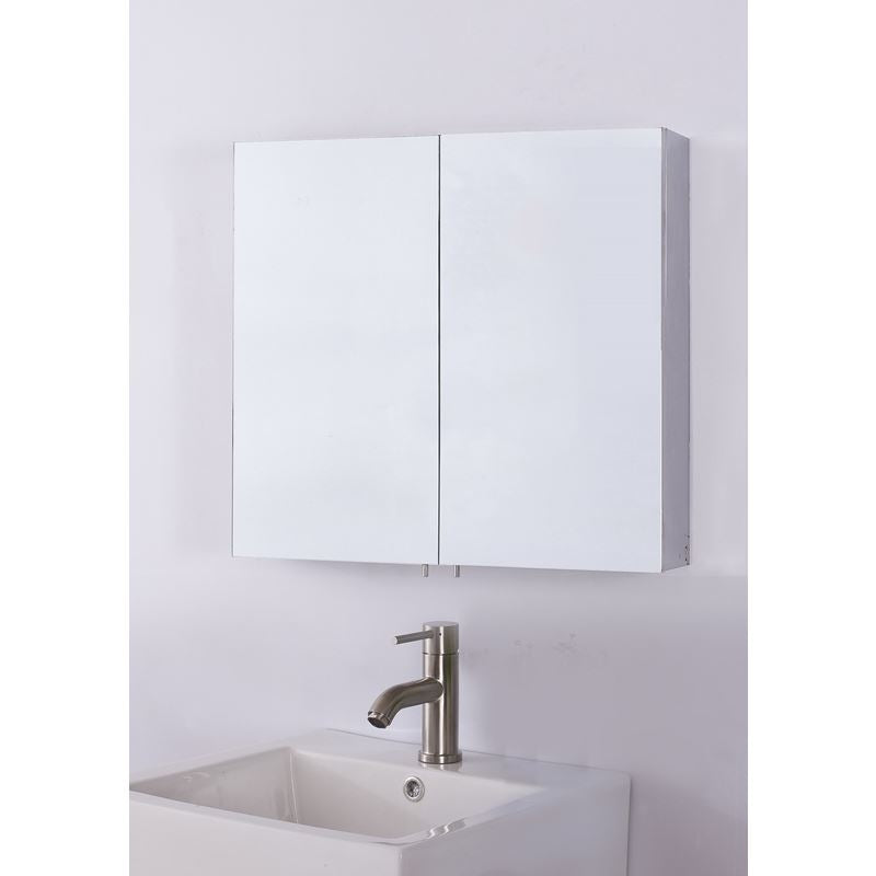 Bellaterra Double Door Mirrored Medicine Cabinet