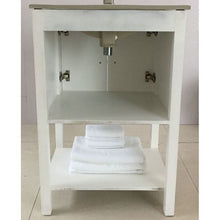 Load image into Gallery viewer, Bellaterra 24 In Single Sink Vanity Manufactured Wood White 9007-24-WH