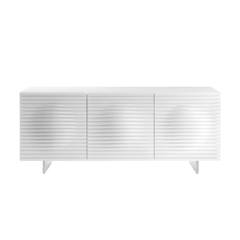 MOON High Gloss White Lacquer Buffet by Casabianca Home