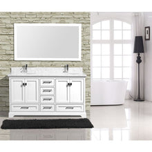 "Load image into Gallery viewer, Adornus Cambridge White 60"" Double Bathroom Vanity with mirror"