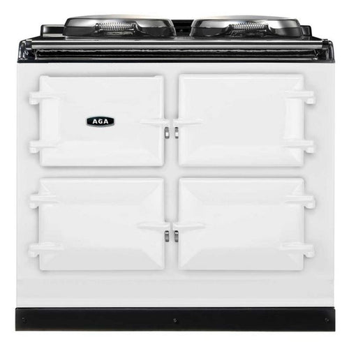 AGA Total Control Cast Iron 3-Oven Electric Range WHITE
