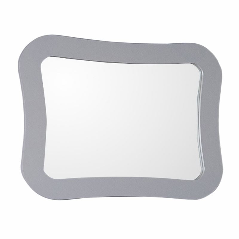 Bellaterra Framed Mirror Manufactured Wood Light Gray
