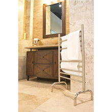 "Load image into Gallery viewer, Amba Freestanding 24"" 10 Bar Towel Warmer, Polished"