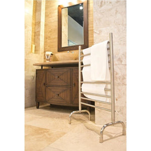 "Amba Freestanding 24"" 10 Bar Towel Warmer, Polished"