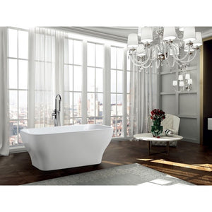 Novara 59 inch Freestanding Bathtub in Glossy White