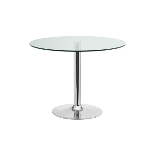 FORTE Chrome / Clear Glass Dining Table by Casabianca Home