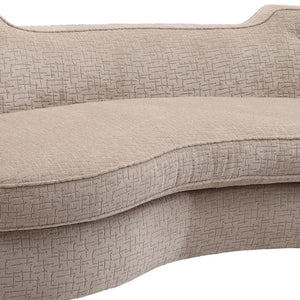 Palisade Transitional Sofa in Sand Fabric with Brown Legs