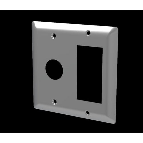 Radiant Square Double Gang Plate Polished