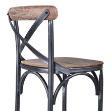 "Load image into Gallery viewer, Sloan Industrial 26"" Counter Height Barstool in Industrial Grey and Pine Wood"