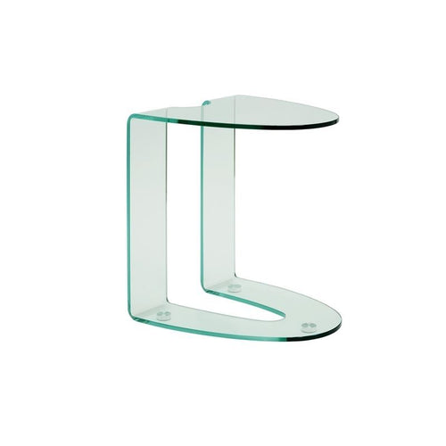 LIDO Clear Glass End Table by Casabianca Home