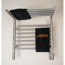 Load image into Gallery viewer, Amba M Shelf Straight 11 Bar Towel Warmer, Brushed
