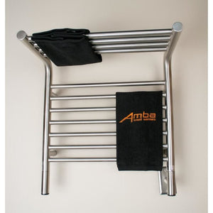 Amba M Shelf Straight 11 Bar Towel Warmer, Brushed