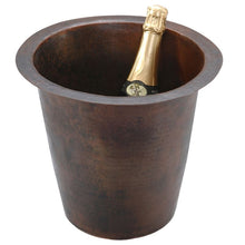 "Load image into Gallery viewer, 12"" Round Hammered Copper Champagne Bar/Prep Sink"