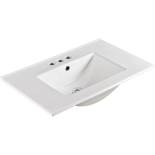 Bellaterra 30 In. Single Sink Ceramic Top
