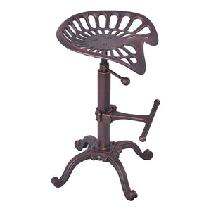 Jax Industrial Adjustable Tractor Barstool in Industrial Copper