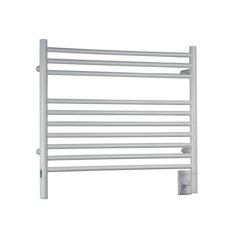 Amba K Straight 10 Bar Towel Warmer, White