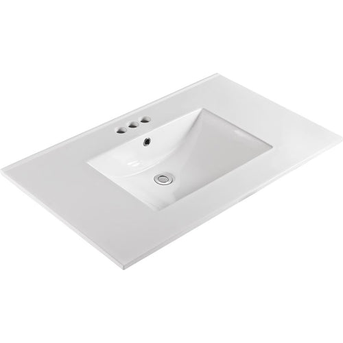 Bellaterra 37 In. Single Sink Ceramic Top 303722-B
