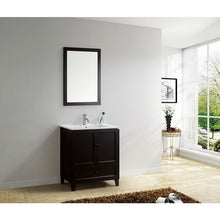 "Load image into Gallery viewer, Adornus Lombardi 30"" Espresso Single Bathroom Vanity with mirror"