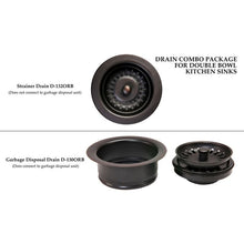 Load image into Gallery viewer, Drain Combination Package for Double Bowl Kitchen Sinks - Oil Rubbed Bronze