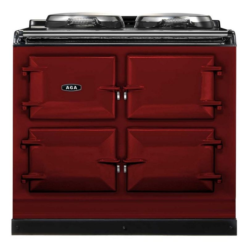 AGA Total Control Cast Iron 3-Oven Electric Range CLARET