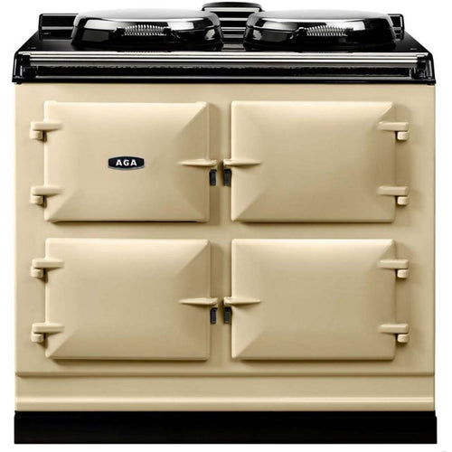 AGA Dual Control Cast Iron 3-Oven Electric Range CREAM