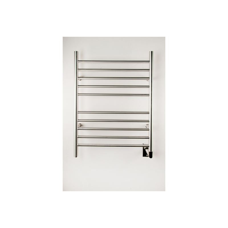 Amba Radiant Hardwired Straight 10 Bar Towel Warmer, Brushed