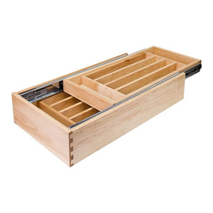 "21"" Double Cutlery Drawer with Push-to-Open inner slide17-1/2"" W x 21""D x 4-3/16""H"