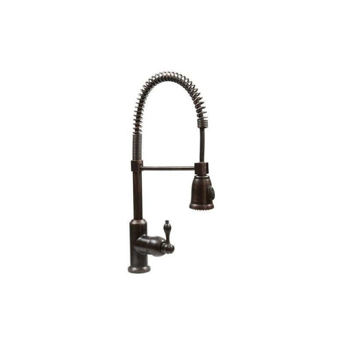 Spring Pull Down Kitchen Faucet in Oil Rubbed Bronze