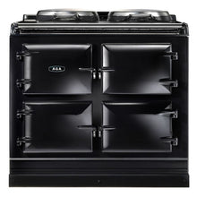 Load image into Gallery viewer, AGA Dual Control Cast Iron 3-Oven Dual Fuel Range BLACK