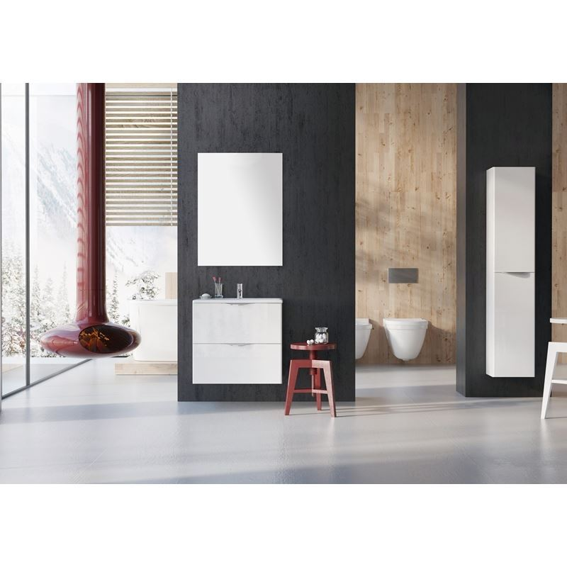 Adornus Ambio Vanity, High Gloss White, 24