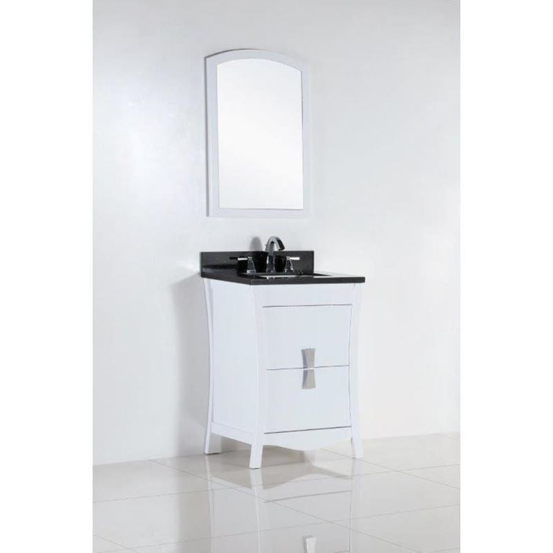 Bellaterra 24 In. Single Sink Vanity With Black Galaxy Top 500701-24-BG