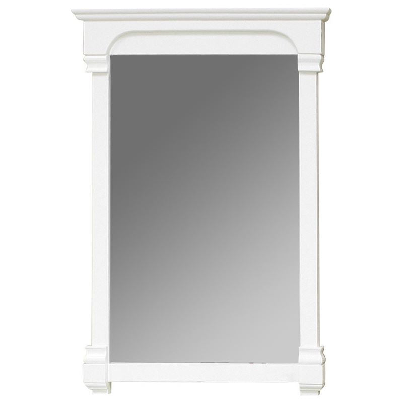 Bellaterra 24 In Solid Wood Frame Mirror 205024-MIRROR-WH