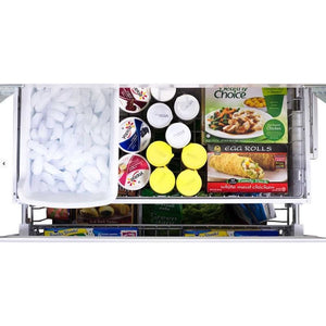 "36"" Marvel Mercury Series French Door Counter Depth Refrigerator, Ivory"