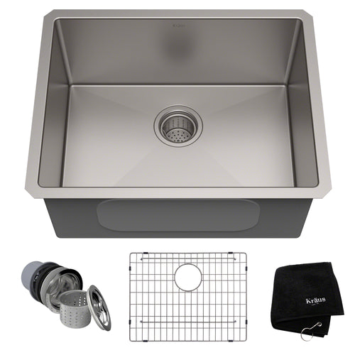 KRAUS Standart PRO™ 23-inch 16 Gauge Undermount Single Bowl Stainless Steel Sink