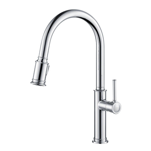KRAUS Sellette Single Handle Pull Down Kitchen Faucet w Dual Function Sprayhead