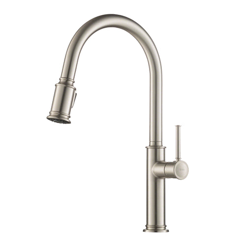 KRAUS Sellette™ Single Handle Pull Down Kitchen Faucet w Sprayer