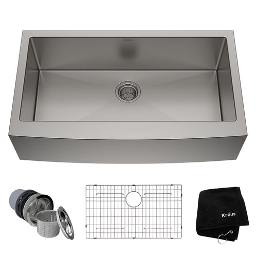 KRAUS Standart PRO™ 36-inch 16 Gauge Single Bowl Stainless Steel Farmhouse Sink