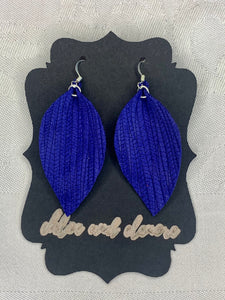 Royal BlueLeather Earrings