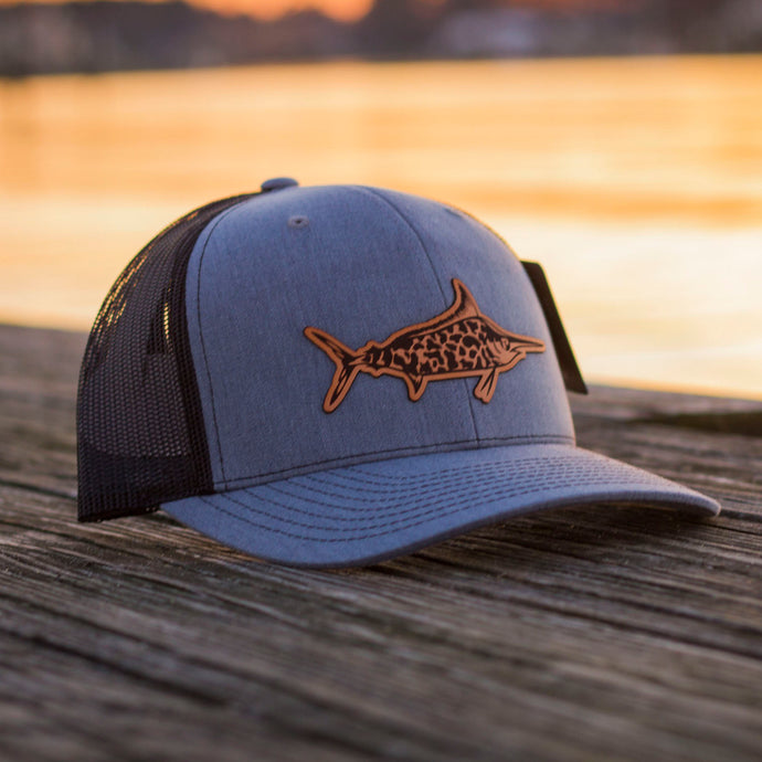Leather Patch/ Camo Marlin Hat