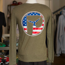 Load image into Gallery viewer, Mens USA Piscator Logo Long Sleeve T-Shirt