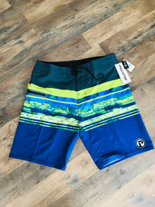 Mens Piscator 4-Way Stretch Multi Color Boardshorts