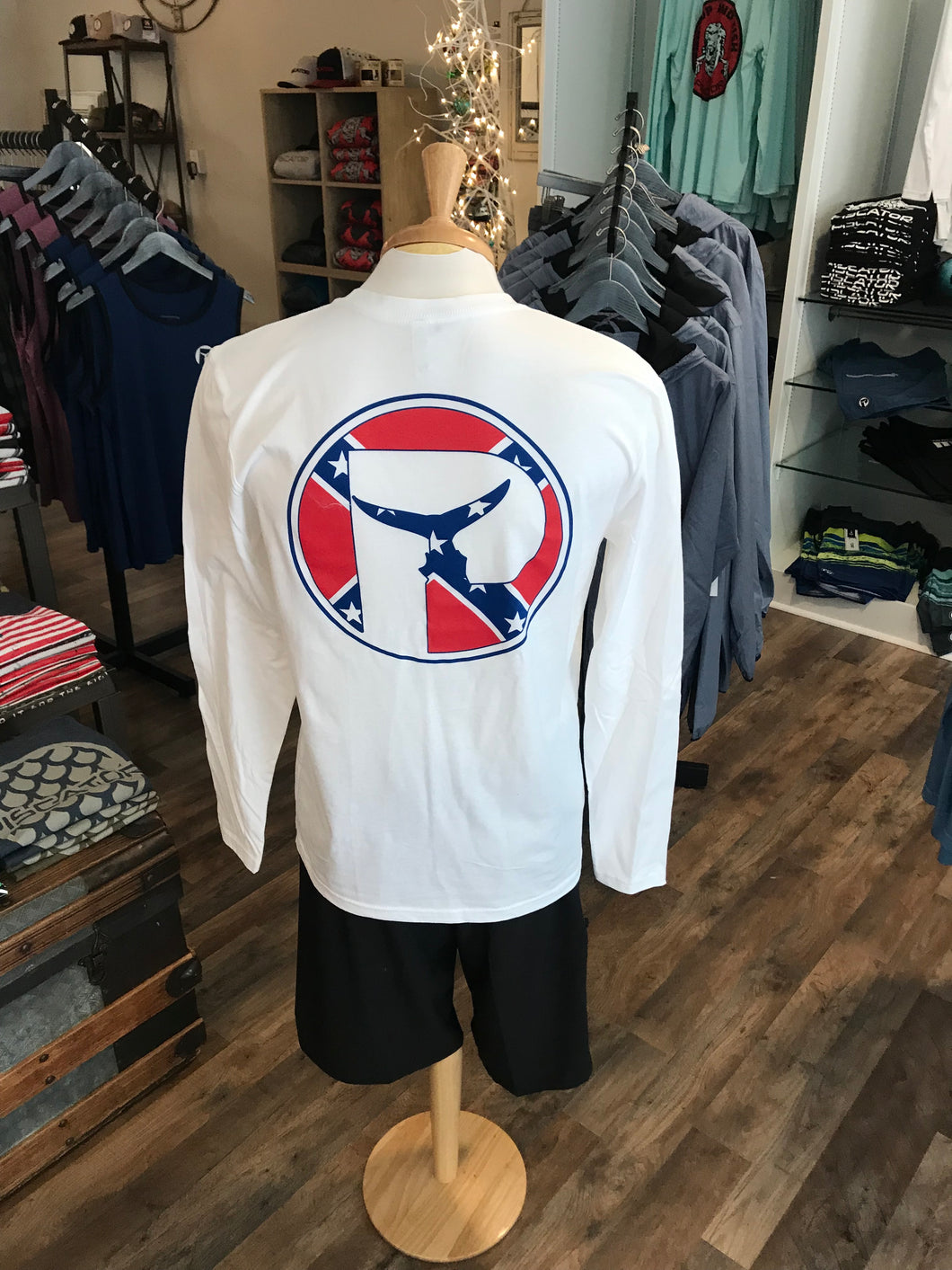 Mens Rebel Piscator Logo Long Sleeve T-Shirt