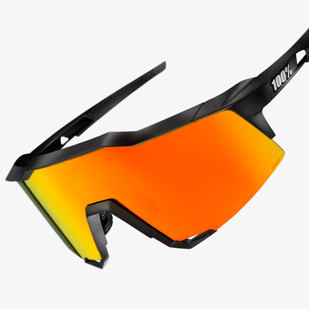 100/% SPEEDCRAFT Cycling UV Sunglasses WHITE ORANGE//HiPER RED MULTI