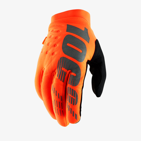 BRISKER Glove - Fluo Orange/Black