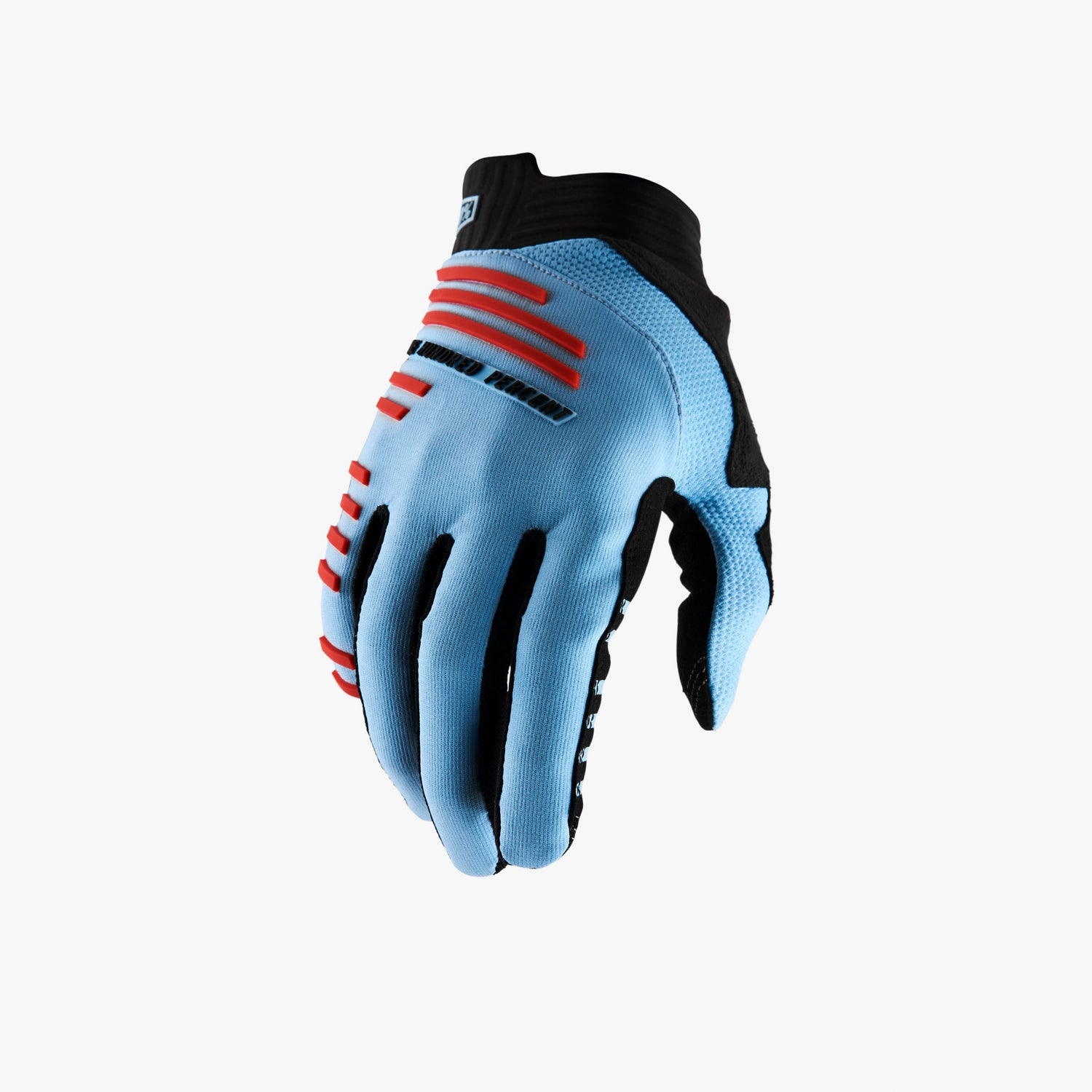 R-CORE Gloves Light Blue/Fluo Red