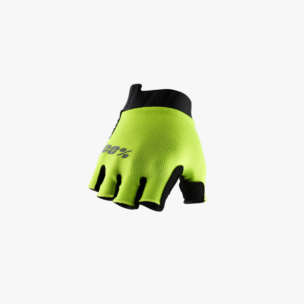 EXCEEDA Gel Short Finger Gloves Fluo Yellow